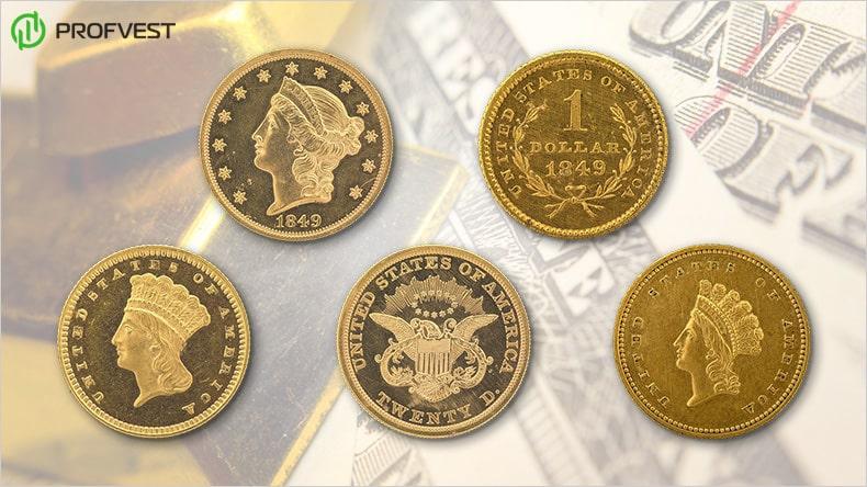 Золотой доллар США: история и цена