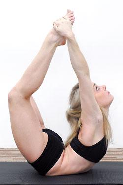 yoga a way to health dhanurasanathe bow poseurdva