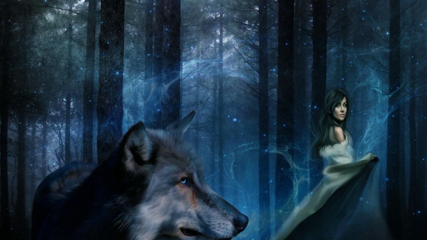 Girl In Woods Wallpaper Wallpaper Proslut Hd Wolf Wallpapers