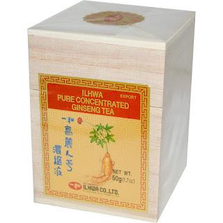 شاي الجنسنج الطبيعي  Ilhwa, Pure Concentrated Ginseng Tea, من اي هيرب