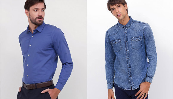 Camisas masculinas Slim Fit