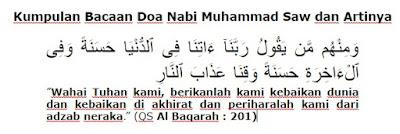 Bacaan Doa Nabi Muhammad Saw dan Artinya