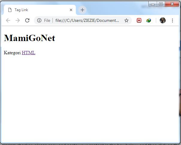Cara Membuat Link di HTML ( Tag a )