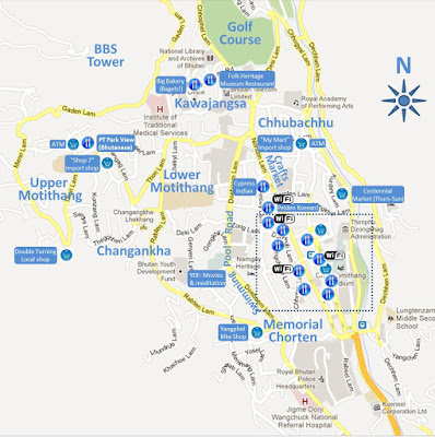 Thimphu Map