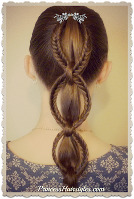 Cute back to school hairstyle! Fishtail chain braid ponytail hair tutorial.