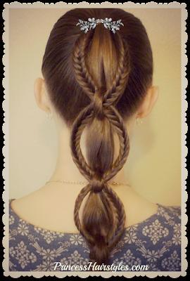 Cute back to school hairstyle! Fishtail chain braid ponytail hair tutorial.