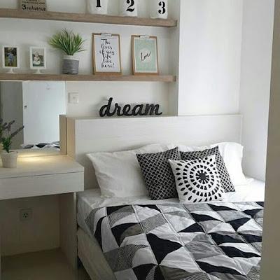 Desain Kamar Tidur Minimalis Ukuran 3X4 Sederhana