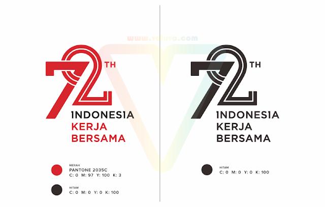 logo resmi hut ri ke72 kemerdekaan indonesia