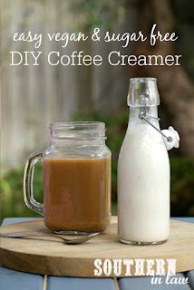 Healthy Easy Vegan DIY Coffee Creamer Recipe - healthy, gluten free, dairy free, egg free, vegan, sugar free, sweet cashew cream, clean eating recipe