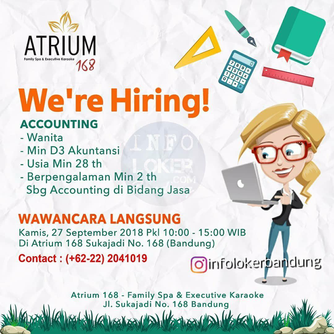 Lowongan Kerja Accounting Atrium 168 Bandung September 2018
