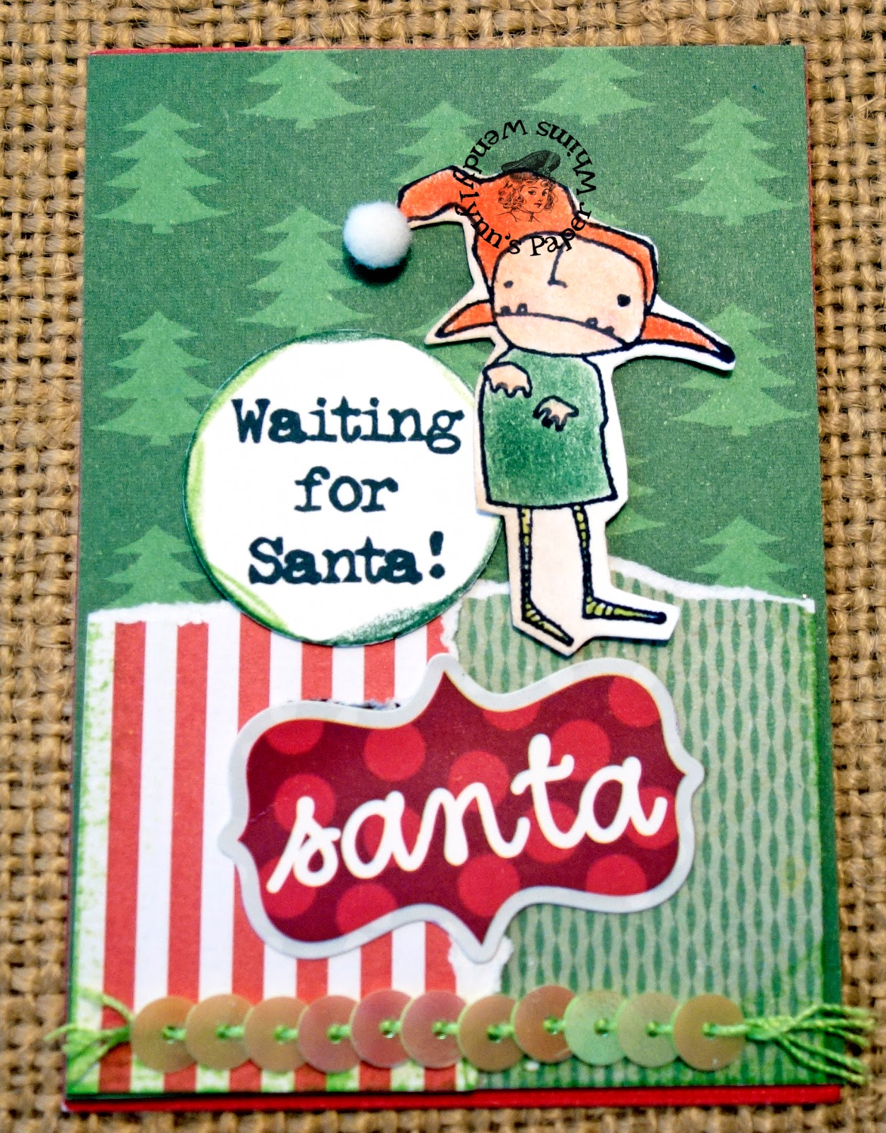 wendylynn 39 s paper whims waiting for santa atc. Black Bedroom Furniture Sets. Home Design Ideas