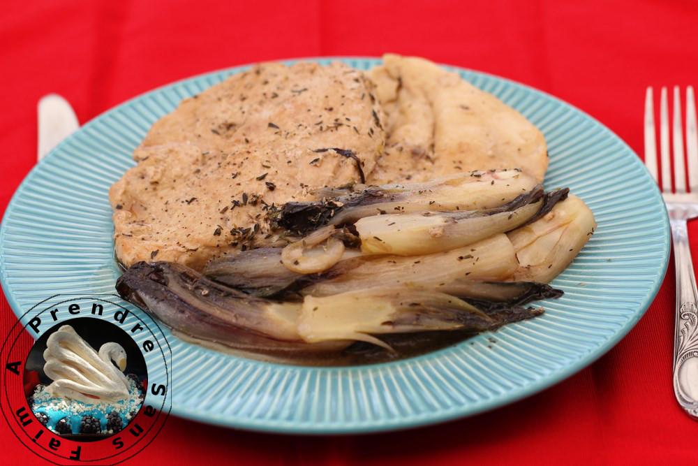 Poulet et endives sauce Marsala