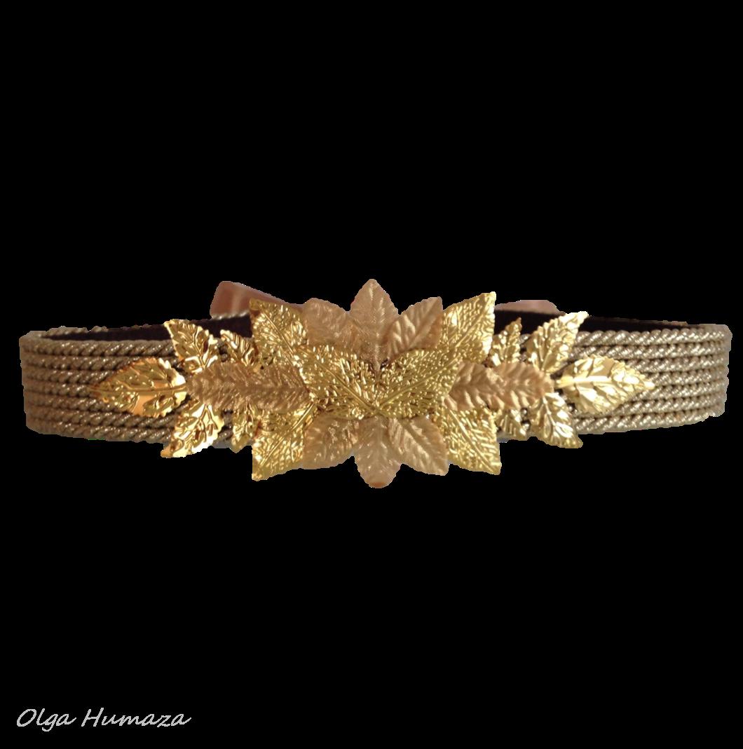 http://olgahumaza.blogspot.com.es/2014/09/c08-cinturon-hojas-doradas-metalicas.html