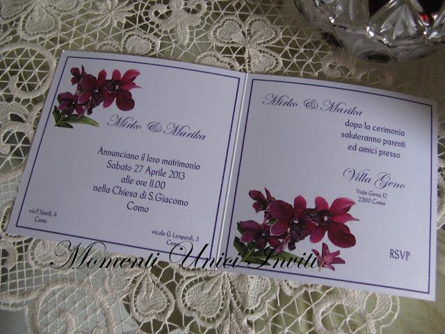floral8 Partecipazioni card linea florealeLinea Floreale