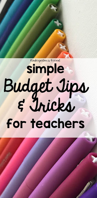 Budget tips and tricks - simple ways to save money in your classroom, advice I wish I knew as a first year and beginning teacher!