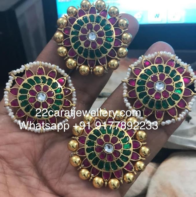 Huge Kundan Studs in 925silver