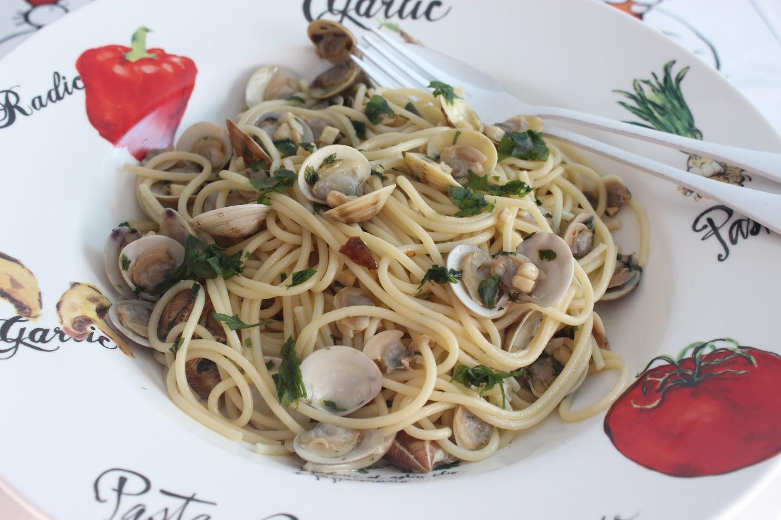 Las recetas de marichu y las mias espaguetis con - Espaguetis con chirlas ...
