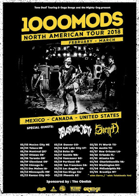 1000mods North American tour 2018