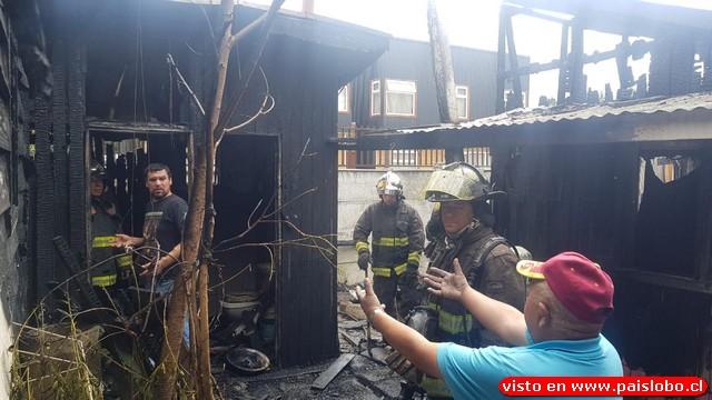 Osorno: Incendio afecta -otra vez- a domicilio de Rahue Alto