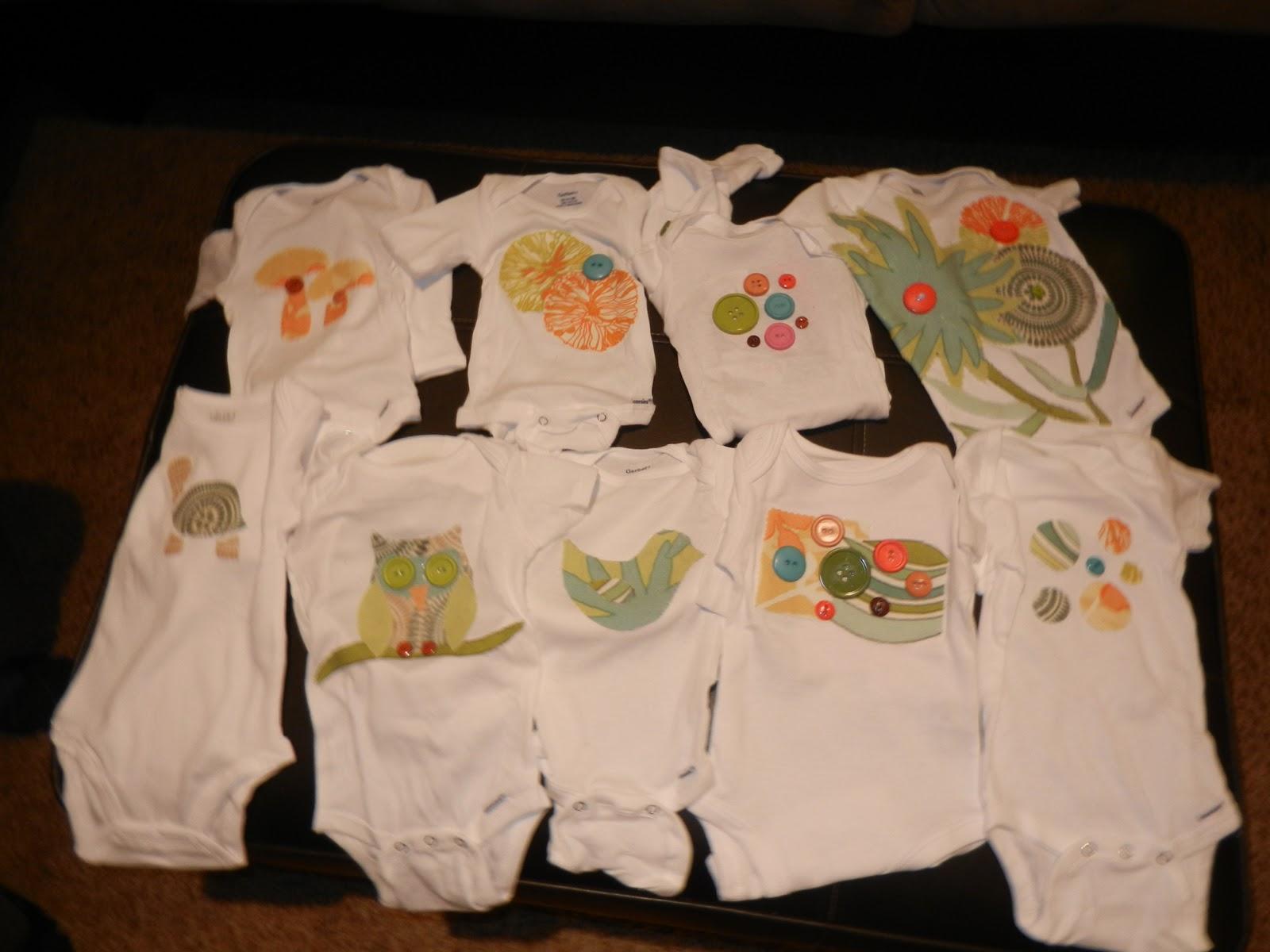 ericandjodi.com: Baby Shower - Decorating Onesies