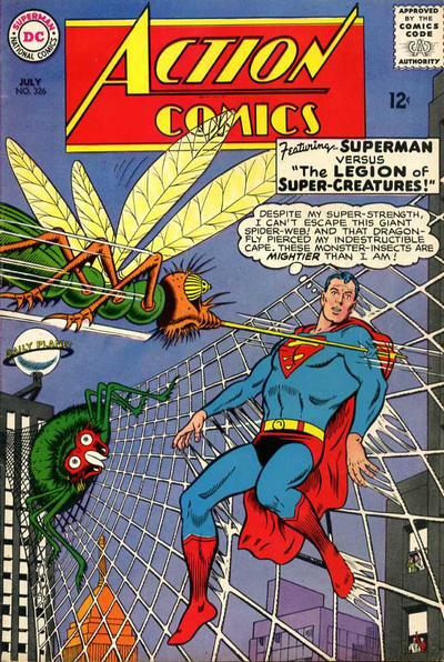 Episode #384 Part III: Superman Comic Book Cover Dated July 1965: Action Comics #326!