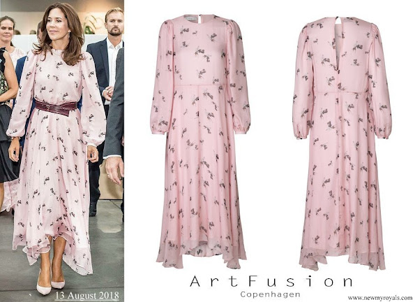 Crown Princess Mary wore Art Fusion Copenhagen Frieda Chiffon Dress