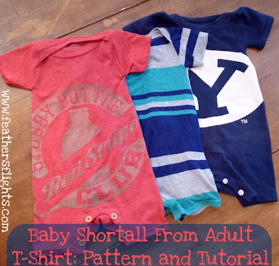 Baby Shortall From Adult T-Shirt: Pattern and Tutorial
