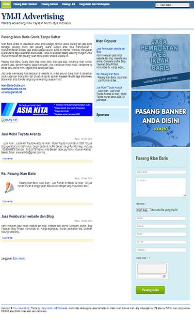 Buat web iklan baris gratis dengan Blogger. - Blog dan