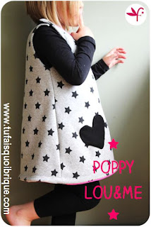 Robe chasuble Poppy Lou and Me - Version sweat