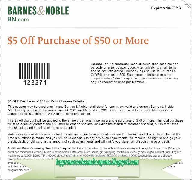 12222 Barnes and Noble Printable Coupons, Coupon Codes, and Deals