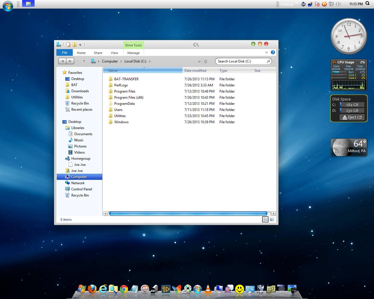 Everything Windows 10: MAC OSX Snow Leopard Theme for Windows 8