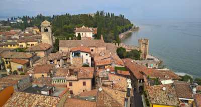 View of Sirmione looking north from the Castello Scaligero.
