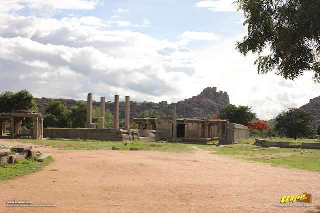 Ruins, outside Vithala temple, Hampi