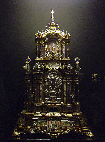 Zamek Królewski na Wawelu. Ołtarzyk pałacowy z około 1720-1725.
