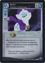 My Little Pony Rarity, Element of Generosity Canterlot Nights CCG Card