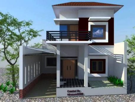 Model Desain Rumah Minimalis 2 Lantai 6x12 Modern Nyaman Indah