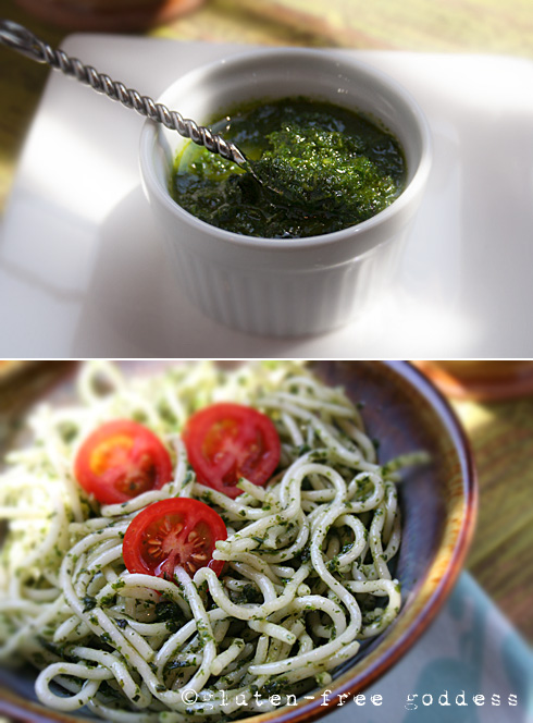 Karina's vegan, raw, pesto- gluten-free goodness. #vegan #raw #pesto