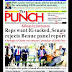 NIGERIA NEWSPAPERS: TODAY'S THE PUNCH NEWSPAPER HEADLINES [8TH FEBRUARY , 2018].