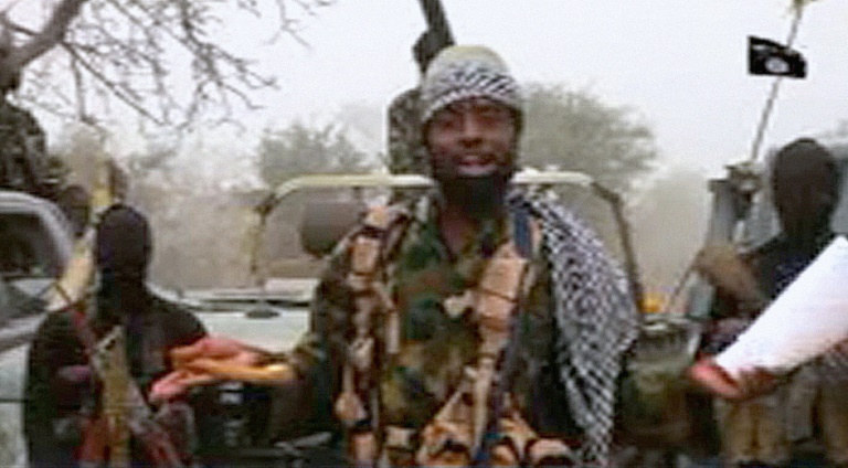Boko Haram leader Abubakar Shekau appeared in a new video at an undisclosed location on December 29, 2016. BOKO HARAM/AFP /
