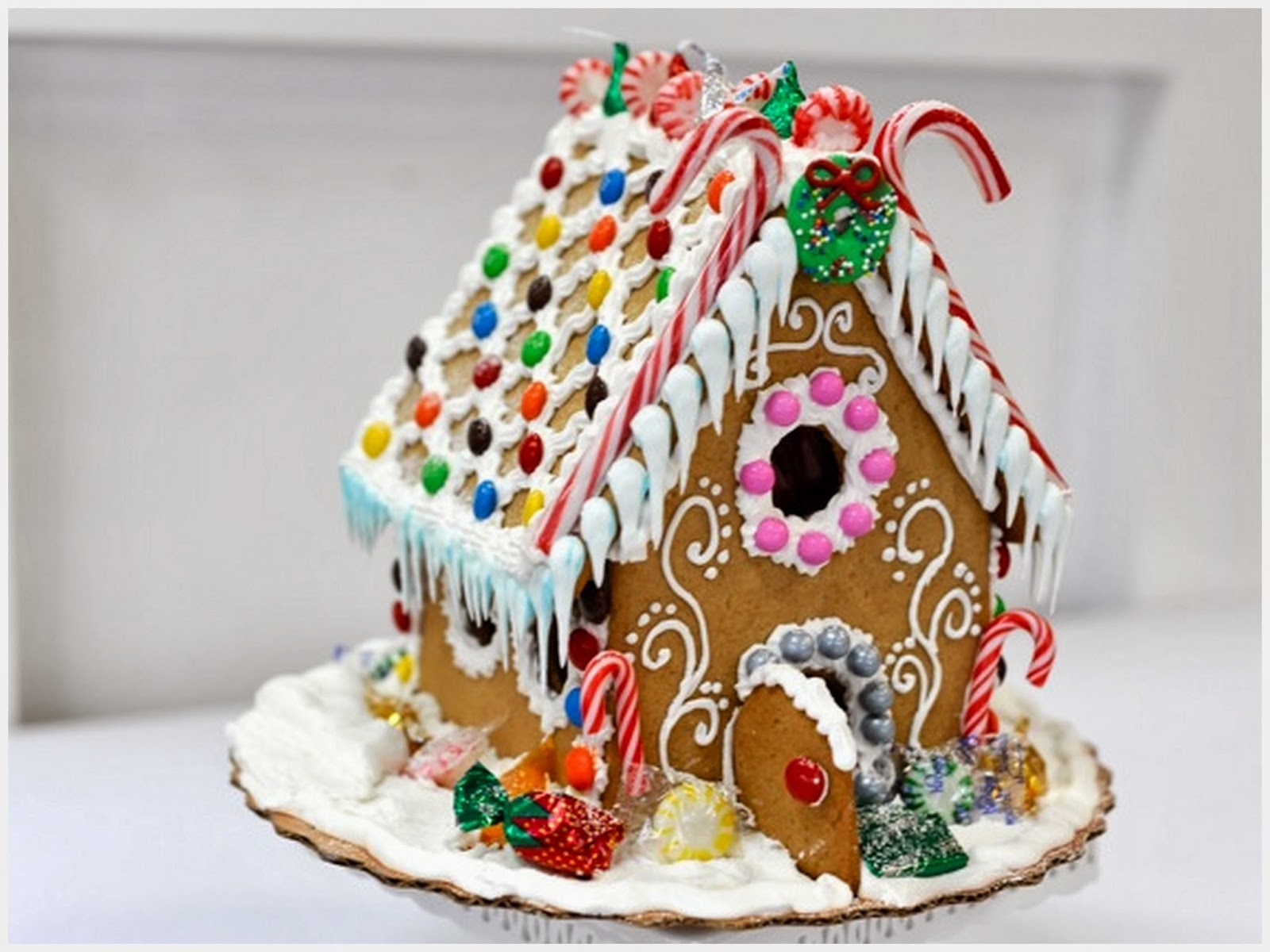 рождественские домики из печенья фото это