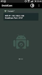 Cara melihat IP address dan port untuk DroidCam