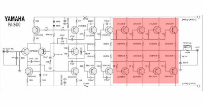 Yamaha Power Amplifier Circuit Diagram PA-2400