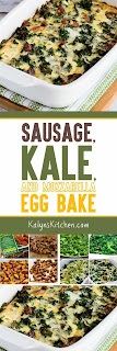 Sausage, Kale, and Mozzarella Egg Bake found on KalynsKitchen.com