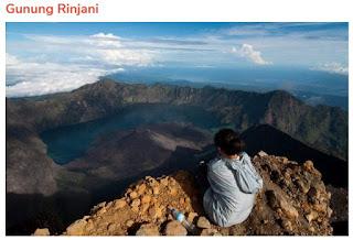 Tempat Wisata Gunung Rinjani di Lombok Utara