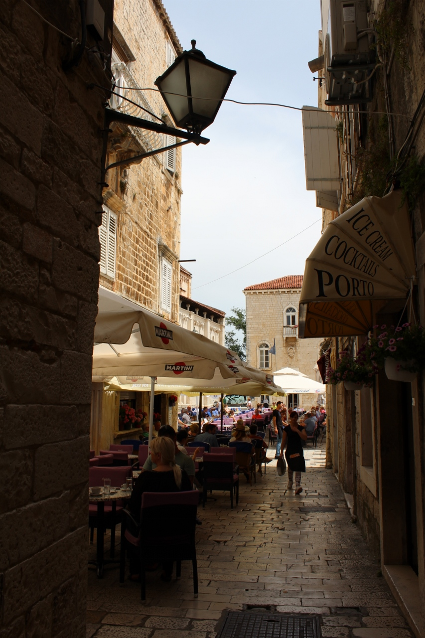 Diners at Trogir Old Town