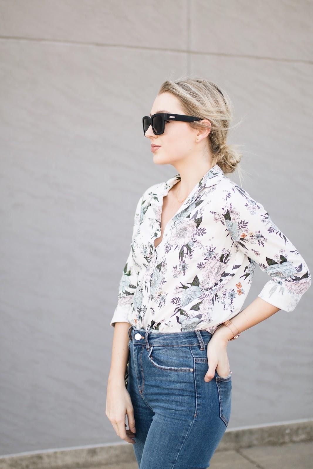 floral blouse under $20