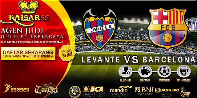 PREDIKSI TEBAK SKOR JITU LIGA SPANYOL LEVANTE VS BARCELONA 14 MEI 2018
