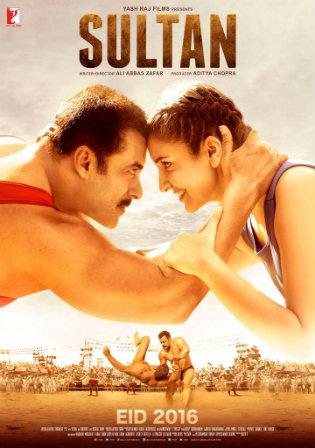 Poster of Sultan 2016 Full Hindi Movie Download BRRip 720p 1Gb
