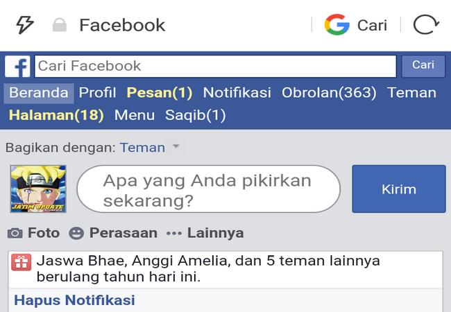 Cara Ubah Tampilan Facebook Ke Versi Dasar Di Uc Browser Terbaru