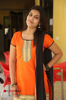 Telugu Actress Chandana Stills in Salwar Kameez at Karam Dosa Movie Press Meet  0048.JPG